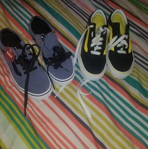 Two pairs of vans